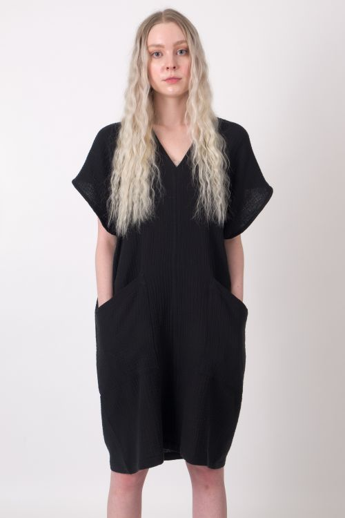 100% Cotton Dress. The Black Layer Gemma Dress Tunic, in Black. Made in Canada.