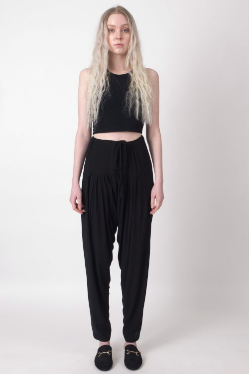 Festival Pants. The Black Layer Stevie Street Pants, in Black. Made in USA.